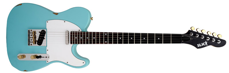 SLICK GUITARS SL 51 Daphne Blue E-Gitarren SLICK
