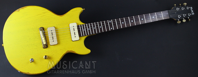 Slick Guitars Sl 60 Tv Yellow E Gitarren Slick